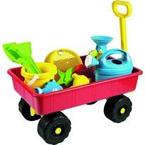 Cărucior pentru copii cu jucării de nisiproșu,