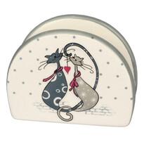 Suport ceramic Cats, pentru şerveţele