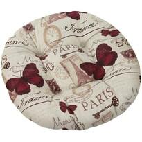 Siedzisko Dana okrągłe Motyl Paryż, 40 x 40 cm