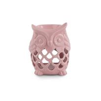 Kominek aromatyczny z ceramiki Sowa, różowy