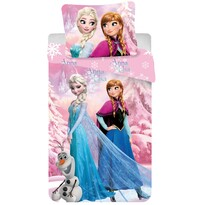 Detské bavlnené obliečky Ľadové kráľovstvo Frozen pink 2016, 140 x 200 cm, 70 x 90 cm