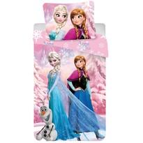 Jégvarázs gyerek pamut ágyneműhuzat Frozen pink 2016, 140 x 200 cm, 70 x 90 cm