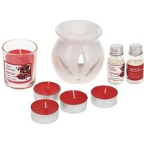 Set lumânări şi aroma-lampă Odeur Pomegranate, 9 buc.