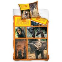 Animal Planet - Szafari pamut ágyneműhuzat, 160 x 200 cm, 70 x 80 cm