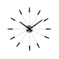 Nextime Plug Inn 2610zw nástenné hodiny čierna, pr. 60 cm