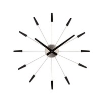 Nextime Plug Inn 2610zw zegar ścienny czarny, śr. 60 cm