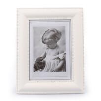 Dřevěný fotorámeček Clasico, bílá