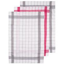 Kuchyňská utěrka Linen šedá,  50 x 70 cm, sada 3 ks