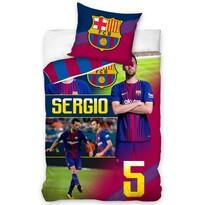 Lenjerie de pat FC Barcelona Sergio, 140 x 200 cm, 70 x 80 cm