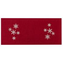 Obrus świąteczny Płatki śniegu czerwony