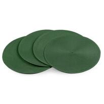 Suporturi farfurii Deco, rotunde, verde închis,, 35 cm, set 4 buc.