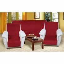 Narzuty na kanapę i fotele Korall micro winny, 150 x 200 cm, 2 szt. 65 x 150 cm