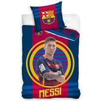 Pościel bawełniana FC Barcelona Messi, 140 x 200 cm, 70 x 80 cm