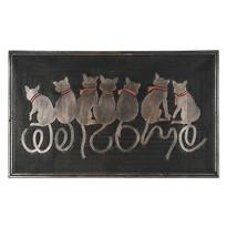 Ülő macskák kültéri lábtörlő, 45 x 75 cm