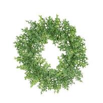Bukszus műkoszorú, zöld, átmérő: 16 cm