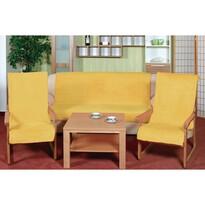 Narzuty na kanapę i fotele Korall micro żółty, 150 x 200 cm, 2 szt. 65 x 150 cm