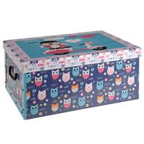 Úložný box Sovičky, modrá