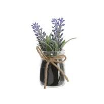 Mű levendula üveg virágcserépben