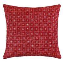 Vankúšik Rita Štvorce červená, 40 x 40 cm