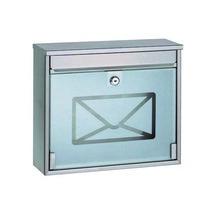 Poštová oceľová schránka s tvrdeným sklom, 36 cm, 36 cm
