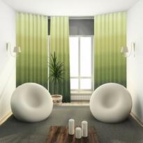 Draperie cu inele Darking, verde, 150 x 245 cm