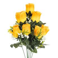 Umělá kytice Růže žlutá, 48 cm