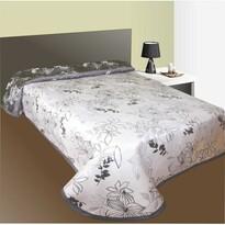 Prehoz na posteľ Lisbon šedý, 140 x 220 cm