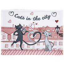 Suport farfurie Pisici în oraş, 33 x 45 cm