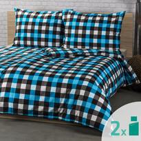 4Home 2 zestawy pościeli Checker, 140 x 200 cm, 70 x 90 cm