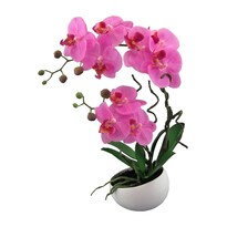 Umělá Orchidej v květináči růžová, 42 cm