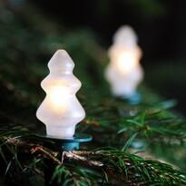 Instalaţie luminoasă Pom Crăciun, alb, 12 becuri