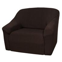 4Home Pokrowiec multielastyczny na fotel brązowy