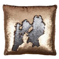 Pernă decorativă Miracle, bronz, 45 x 45 cm