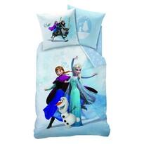 Detské bavlnené obliečky Ľadové kráľovstvo Frozen Enjoy, 140 x 200 cm, 70 x 90 cm