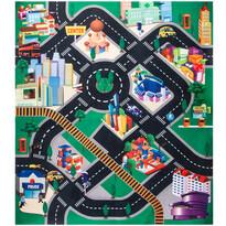 Mata do zabawy dla dzieci z samochodami Fashion city, 70 x 80 cm