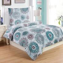 Lenjerie de pat din micro-pluş Debora, turcoaz, 140 x 200 cm, 70 x 90 cm