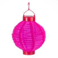 Solárny LED lampión ružová, pr. 20 cm