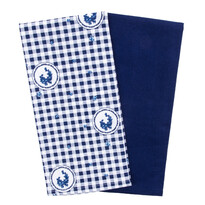 Country konyhatörlő kocka kék, 50 x 70 cm, 2 db-os szett