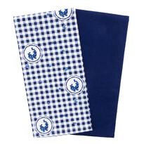Ścierka kuchenna Country kratka niebieski, 50 x 70 cm, 2 szt.