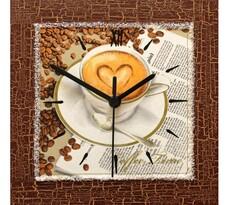 Nástenné hodiny milujem kávu