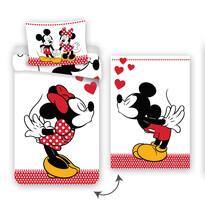 Bavlněné povlečení Mickey and Minne in Love, 140 x 200 cm, 70 x 90 cm