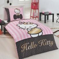 Matějovský Pościel bawełniana Hello Kitty Gold, 140 x 200 cm, 70 x 90 cm