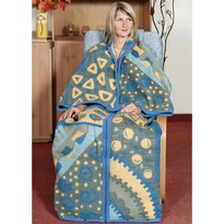 Śpiwór telewizyjny Karmela Plus Geometria niebieski, 150 x 180 cm