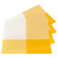 Prostírání DeLuxe žlutá, 30 x 45 cm, sada 4 ks
