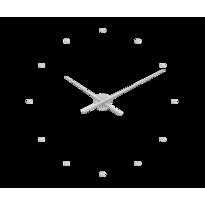 Zegar ścienny Lavvu 3D srebrny, śr. 73 cm