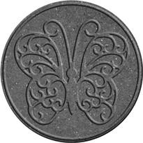 Benco Gumowa płyta do ogrodu Motyl, szary
