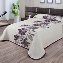 Narzuta na łóżko Azura fioletowy, 140 x 220 cm