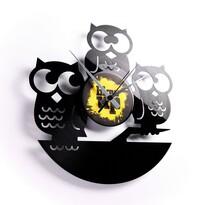 Discoclock 004 Tři moudré sovy nástěnné hodiny