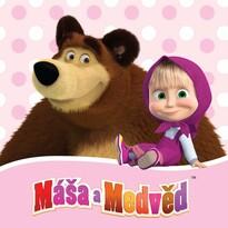 Vankúšik Máša a medveď, 40 x 40 cm