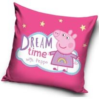Poduszka Świnka Peppa Dream time, 40 x 40 cm